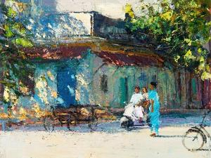 Light on Old House, Pondicherry, 2017 by Andrew Gifford