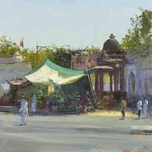 Street Market near Mandore Gardens, Rajasthan by Andrew Gifford
