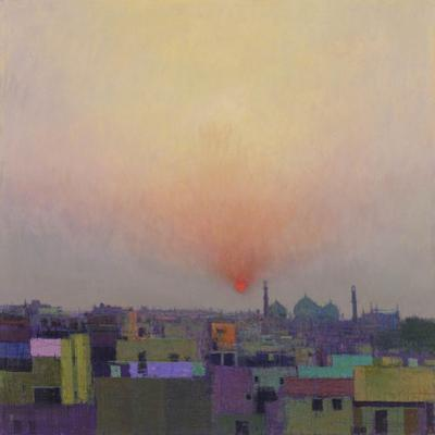 Sunset over Jama Masjid, Delhi II by Andrew Gifford