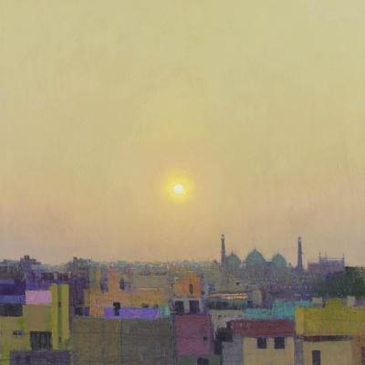 Sunset over the Jama Masjid, Delhi Study II