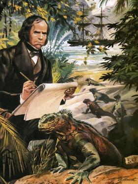 Charles Darwin on the Galapagos Islands by Andrew Howat