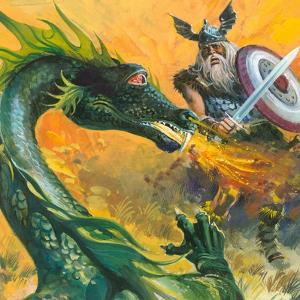 Scene from Beowulf by Andrew Howat