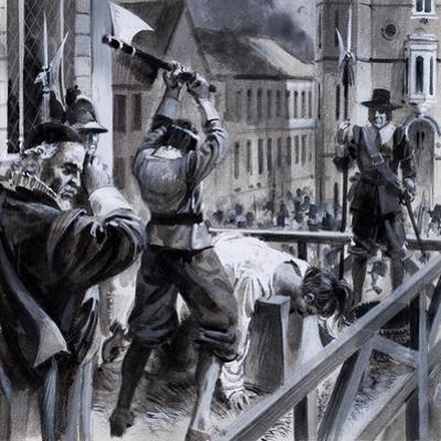 The Execution of King Charles I in Whitehall, 30th January 1649, 1979 by Andrew Howat