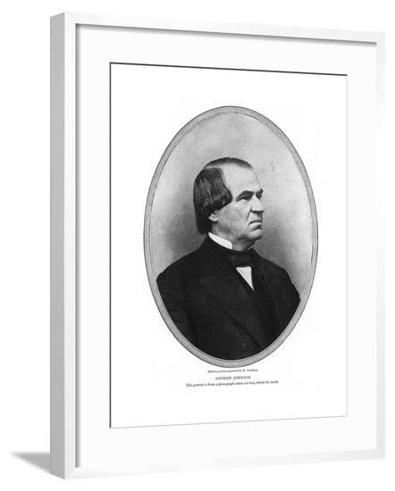 Andrew Johnson, Pres.--Framed Giclee Print