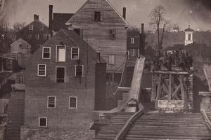 End of the Bridge after Burnside's Attack, Fredericksburg, Virginia, 1863 by Andrew Joseph Russell