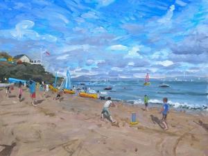 Beach Cricket, Abersoch, 2013 by Andrew Macara