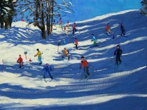 Blue Shadows, Morzine by Andrew Macara