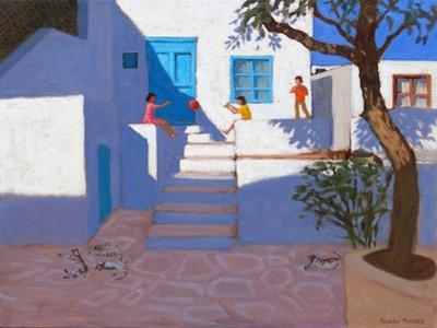 Children and Cats, Mykonos, 2017 by Andrew Macara
