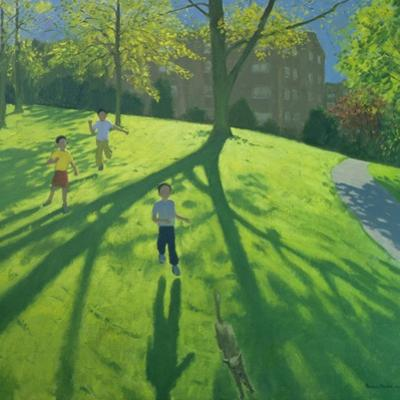 Children Running in the Park, Derby, 2002 by Andrew Macara