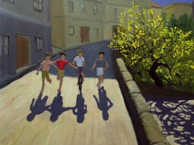 Children Running, Lesbos, 1999 by Andrew Macara