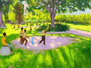 Cricket Practice, Botanical Gardens, Dominica, Grenadines, West Indies by Andrew Macara