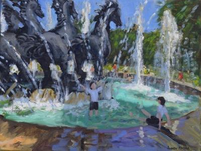 Four Horses Fountain, Manezhnaya Square, Moscow, 2016 by Andrew Macara