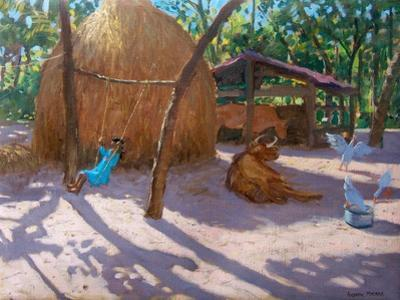 Haystack, And Girl on a Swing, Kerala , 2005 by Andrew Macara