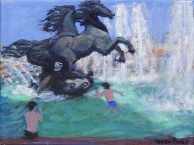 Horse Sculptures, Manezhnaya Square, Moscow, 2016 by Andrew Macara