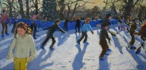Ice Skaters, Christmas Fayre, Hyde Park, London, 2014 by Andrew Macara