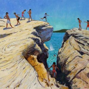 Jumping Off the Rocks, Plates, Skiathos, 2015 by Andrew Macara