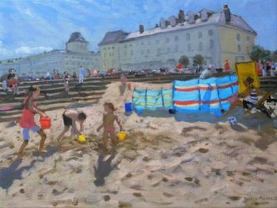 Playing in the Sand, Llandudno, 2010 by Andrew Macara