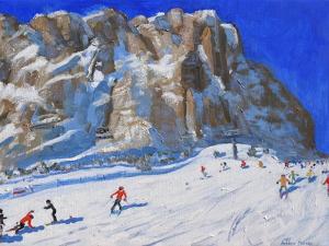 Skiing Down the Mountain, Selva Gardena by Andrew Macara