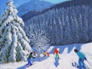 Snow Covered Trees, La Clusaz, France, 2015 by Andrew Macara