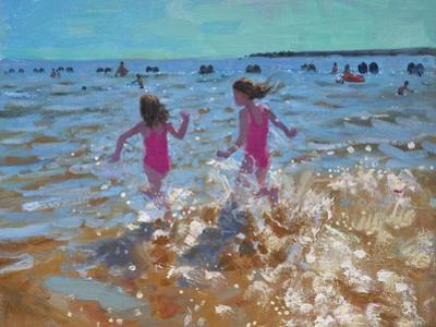 Splashing in the Sea, Clacton, 2014 by Andrew Macara
