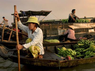 Cai Rang Floating Market on the Mekong Delta, Can Tho, Vietnam, Indochina, Southeast Asia, Asia