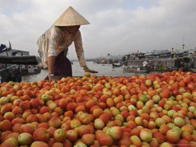 Cai Rang Floating Market on the Mekong Delta, Can Tho, Vietnam, Indochina, Southeast Asia