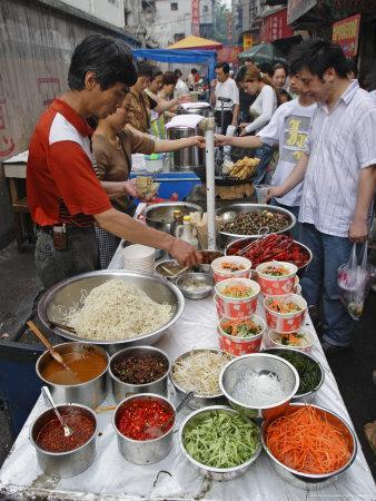 Food Market in Wuhan, Hubei Province, China