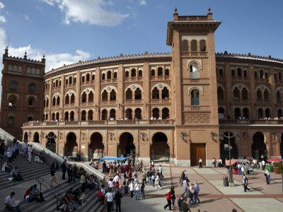 Plaza De Toros De Las Ventas, the Famous Bullfighting Venue in Madrid, Spain, Europe