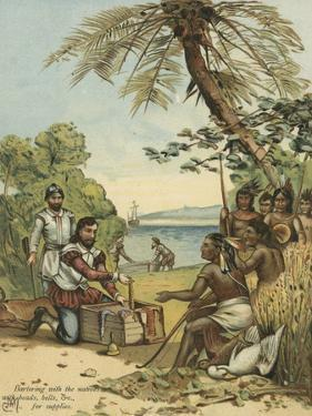 Columbus Bartering with Native Americans for Supplies by Andrew Melrose