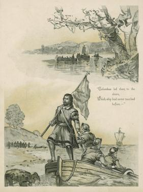 Columbus Coming Ashore in the New World by Andrew Melrose