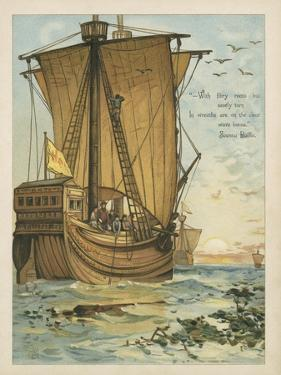 Columbus Sailing Through the Sargasso Sea by Andrew Melrose