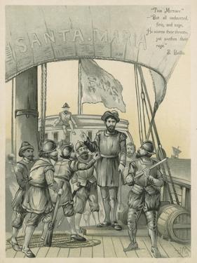 Mutiny Aboard Columbus' Ship the Santa Maria by Andrew Melrose