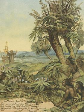 Natives of the New World Watching the Newly Arrived Spaniards by Andrew Melrose