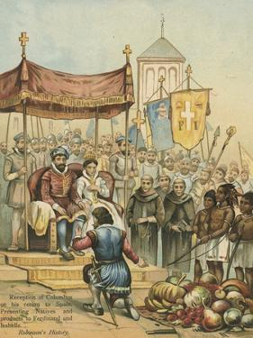 Reception of Columbus on His Return from the New World by Andrew Melrose