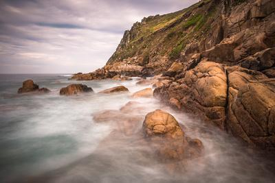 Porth Nanven, a rocky cove near Land's End, England