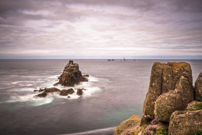 The rock formation known as The Armed Knight at Lands End in Cornwall, England