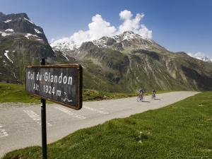 Cyclists Approaching Top of Col Du Glandon by Andrew Peacock