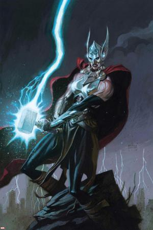 Thor No. 1 Cover, Featuring: Thor (Female) by Andrew Robinson