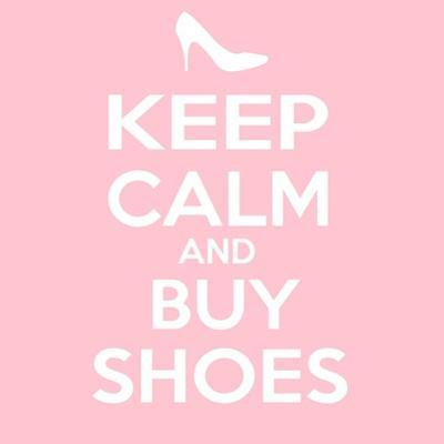 Keep Calm and Buy Shoes by Andrew S Hunt