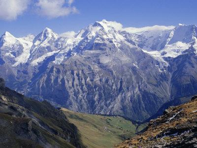 Eiger, Monch, Jungfrau Mountains, Bernese Oberland, Swiss Alps, Switzerland, Europe