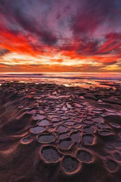Amazing Sunset at the Tide Pools in La Jolla, Ca by Andrew Shoemaker