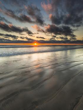 Beach Textures at Sunset in Carlsbad, Ca by Andrew Shoemaker