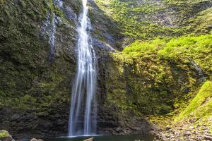 Hanakapiíai Falls Along the Na Pali Coast of Kauai by Andrew Shoemaker