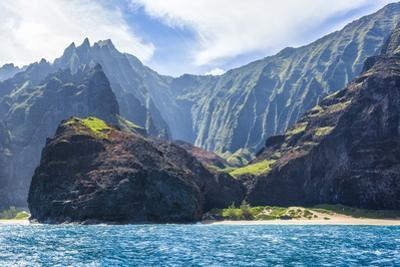 Majestic Na Pali Coastline of Kauai by Andrew Shoemaker