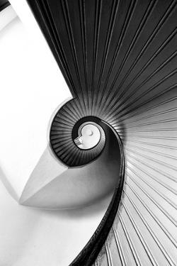 Staircase at Old Point Loma Lighthouse at Cabrillo National Monument by Andrew Shoemaker