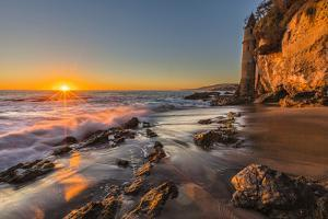 Sunset at Victoria Beach in Laguna Beach, Ca by Andrew Shoemaker