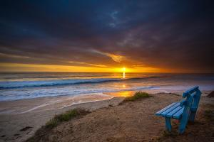 Sunset over the Pacific Ocean in Carlsbad, Ca by Andrew Shoemaker