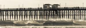 Waves at the Oceanside Pier in Oceanside, Ca by Andrew Shoemaker