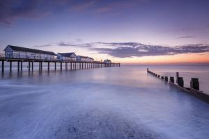 Southwold Pier at dawn, Southwold, Suffolk, England, United Kingdom, Europe by Andrew Sproule