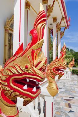 Karon Beach, Buddhist Temple, Phuket Island, Phuket, Thailand, Southeast Asia, Asia by Andrew Stewart
